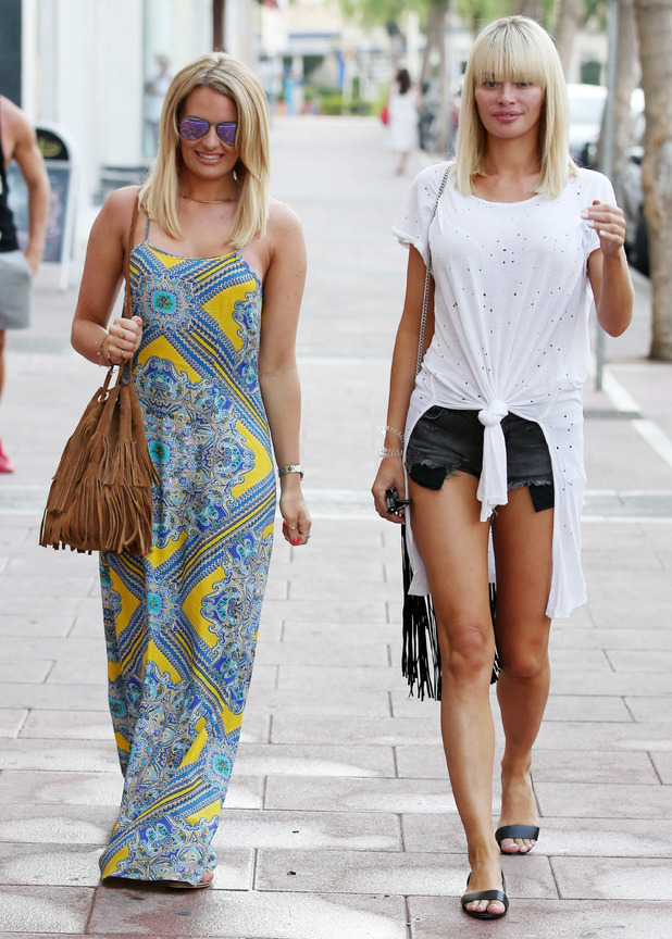 Chloe Sims and Danielle Armstrong in Marbella 9 June