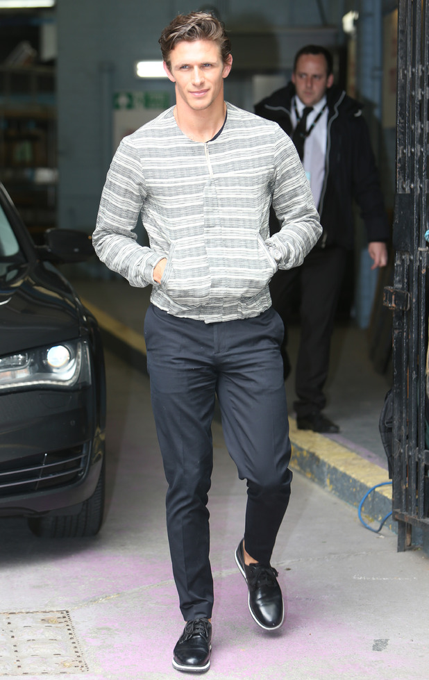 TOWIE's Jake Hall outside the ITV studios - 12 June 2015.