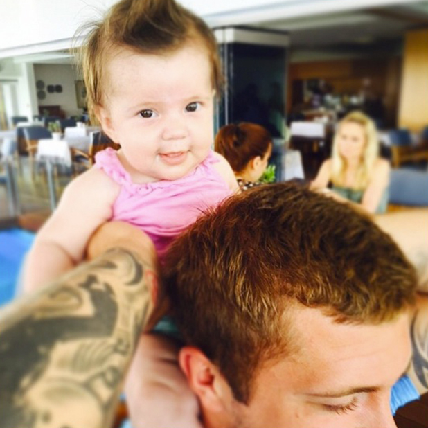 Dan Osborne and Jacqueline Jossa share more images from baby Ella's first holiday, June 2015