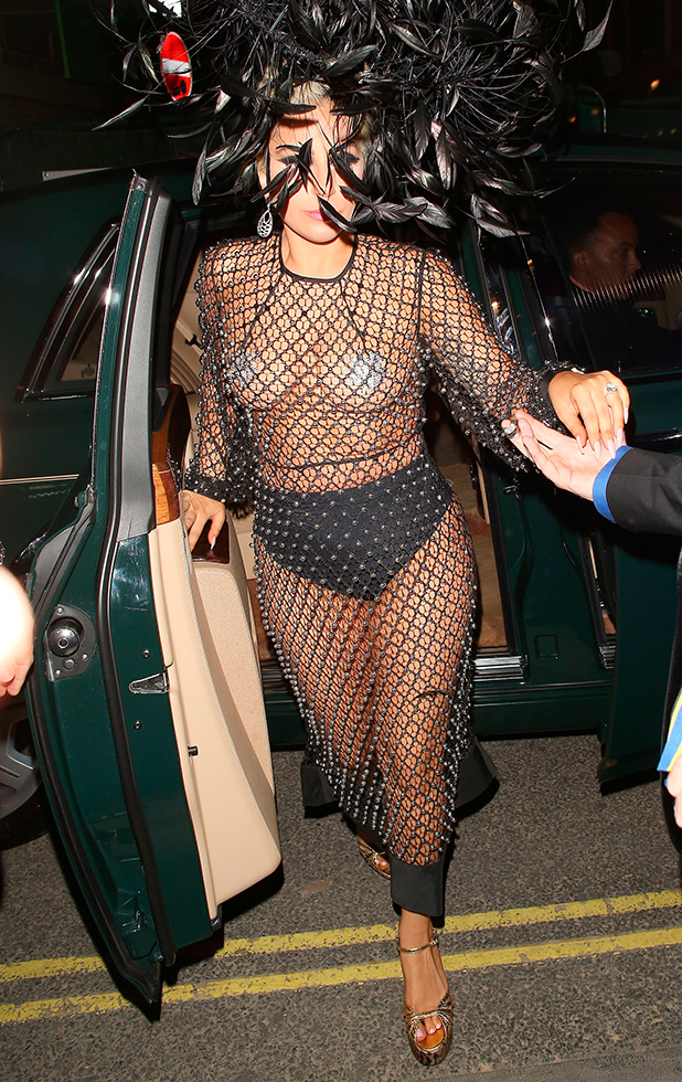 Lady Gaga at the Box nightclub on June 8, 2015 in London, England. (Photo by Mark Robert Milan/GC Images)