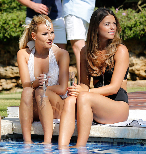 'The Only Way Is Essex' in Marbella, Spain - 01 Jun 2015 Georgia Kousoulou and Chloe Lewis and Lydia Bright