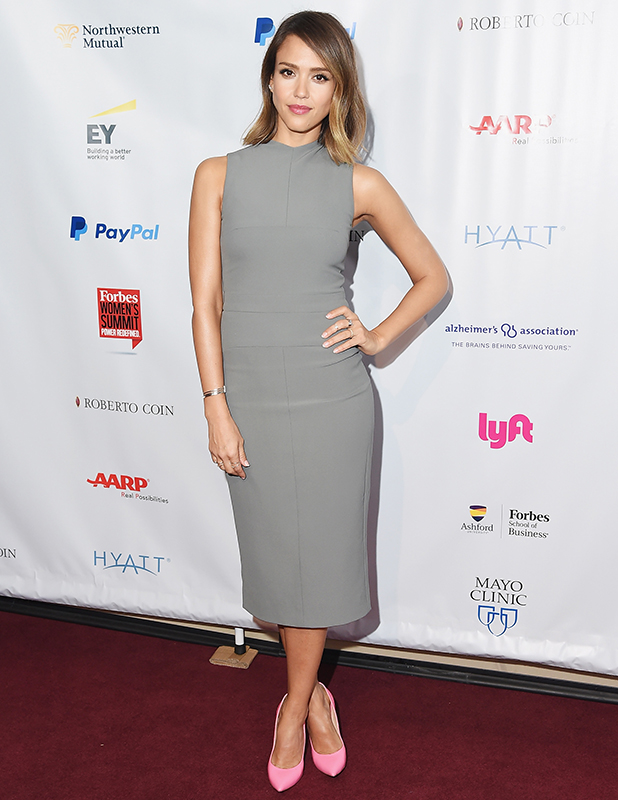 Actress Jessica Alba attends the 2015 Forbes Women's Summit: Transforming The Rules Of Engagement at Pier 60 on June 10, 2015 in New York City. (Photo by Michael Loccisano/Getty Images)