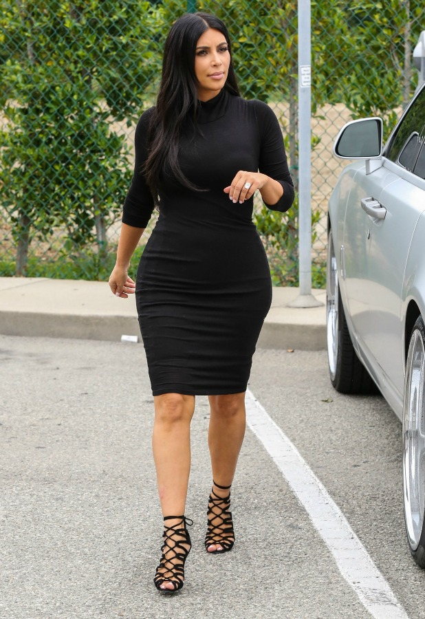 Kim Kardashian is seen shopping in Beverly Hills at Barneys New York on June 09, 2015 in Los Angeles, California. (Photo by Bauer-Griffin/GC Images)