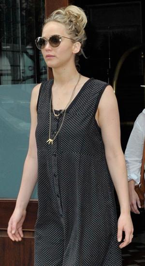 Jennifer Lawrence leaving her hotel in New York 11 June 2015