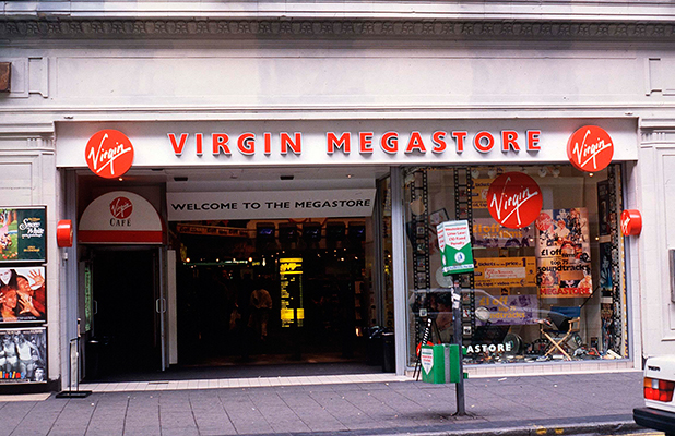 The Virgin Megastore, Oxford Street, London, England, Britain 1995