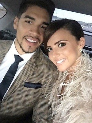 Lucy Mecklenburgh and Louis Smith en route to London, Instagram 14 June
