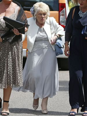 Nanny Pat out and about, Grays, Essex, Britain - 18 Jun 2015