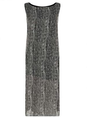 Connie Woven Stripe Column Midi Dress from Boohoo worn by Ferne McCann, 17th June 2015
