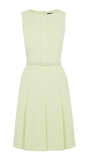 Warehouse belted 70's style dress in yellow, Summer 2015