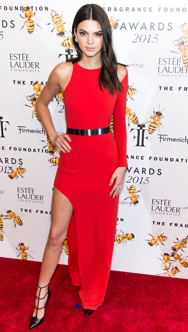 Kendall Jenner on the red carpet at the Fragrance Foundation Awards in New York 18th June 2015