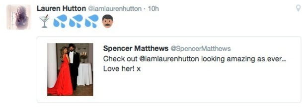 Lauren Hutton response to Spencer Matthews tweets, Twitter 15 June