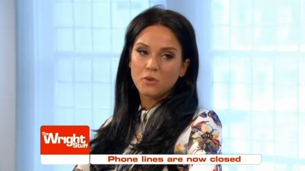 Vicky Pattison appears on The Wright Stuff, Channel 5 17 June