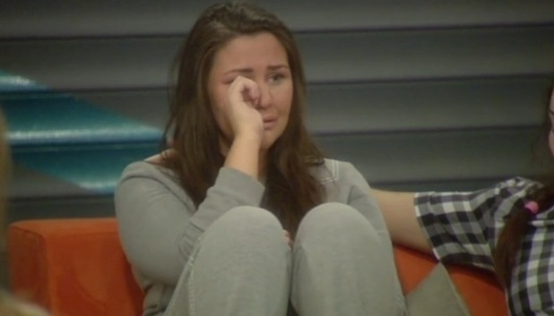 Chloe Wilburn in tears after facing eviction in Big Brother - 17 June 2015.
