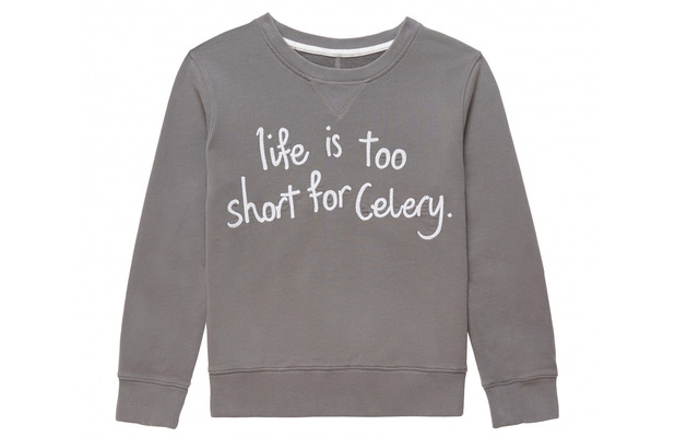 Gem&i slogan sweater £60, 17th June 2015