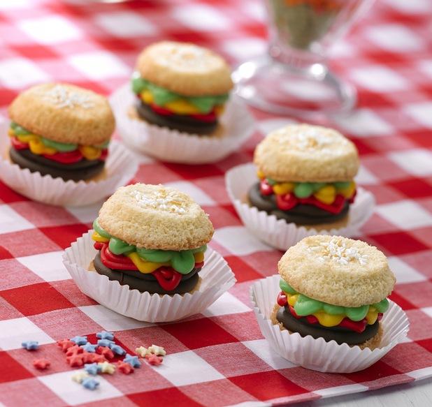 Angels burger cupcake