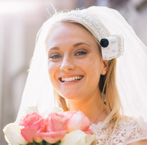 Sony Action Cam for wedding built into bride's veil