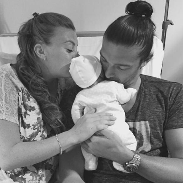 Billi Mucklow and fiancé Andy Carroll welcome baby boy - 15 June 2015.
