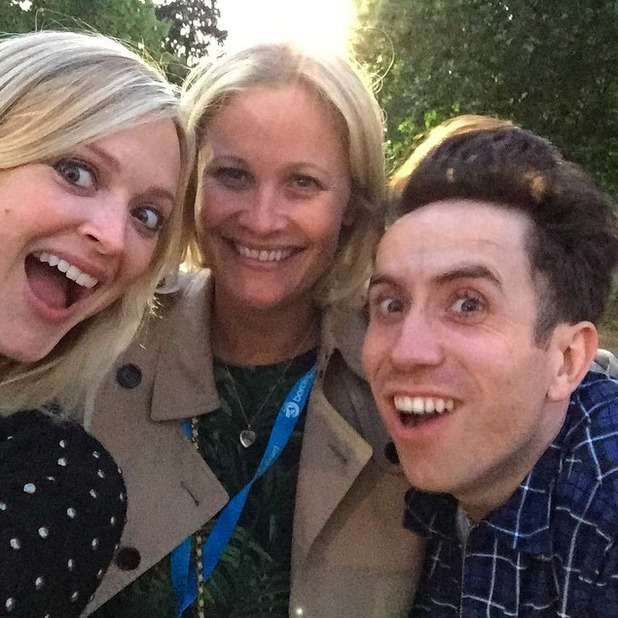 Pregnant Fearne Cotton attends Strokes gig with Nick Grimshaw, 18 June 2015