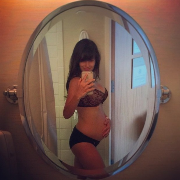 Hilaria Baldwin shows off bodyjust hours after giving birth to son Raphael, 19 June 2015