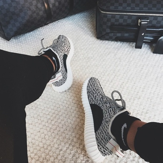 Kylie Jenner posts picture of trainers and lugage to Instagram 19th June 2015