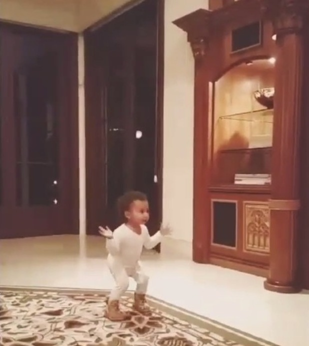 North West dances in a video post celebrating her second birthday, 16th June 2015