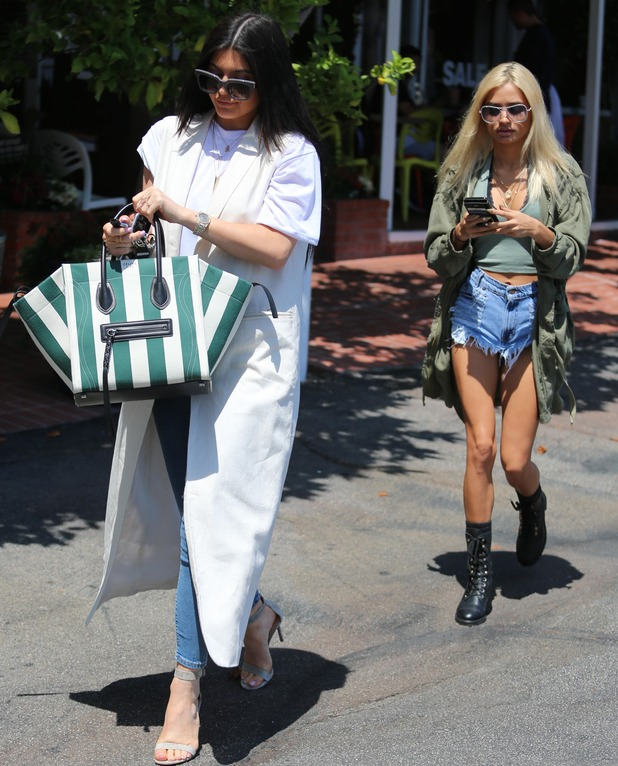 Kylie Jenner and Pia Mia go shopping in Los Angeles, 18th June 2015