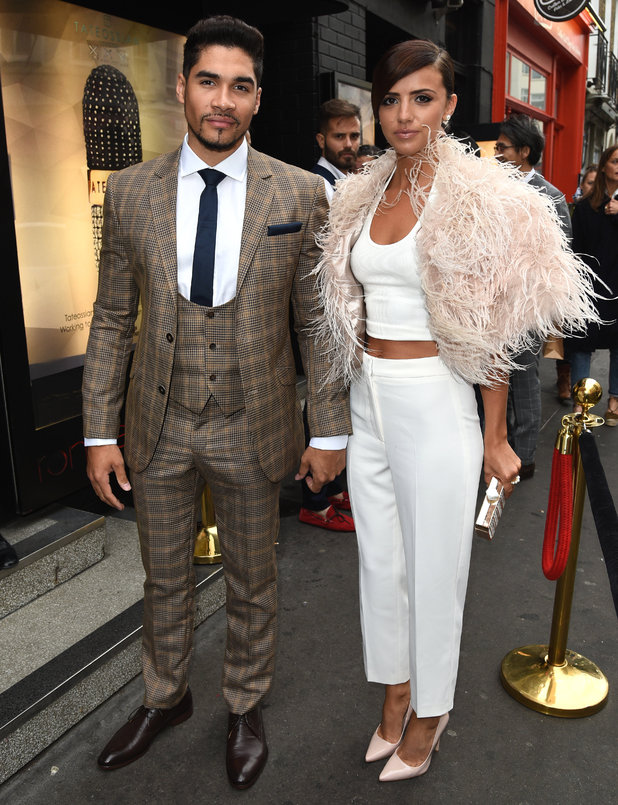 Lucy Mecklenburgh and Louis Smith attend Tateossian and Elton John AIDS Foundation: PILLXXV, Ronnie Scott's, London 14 June