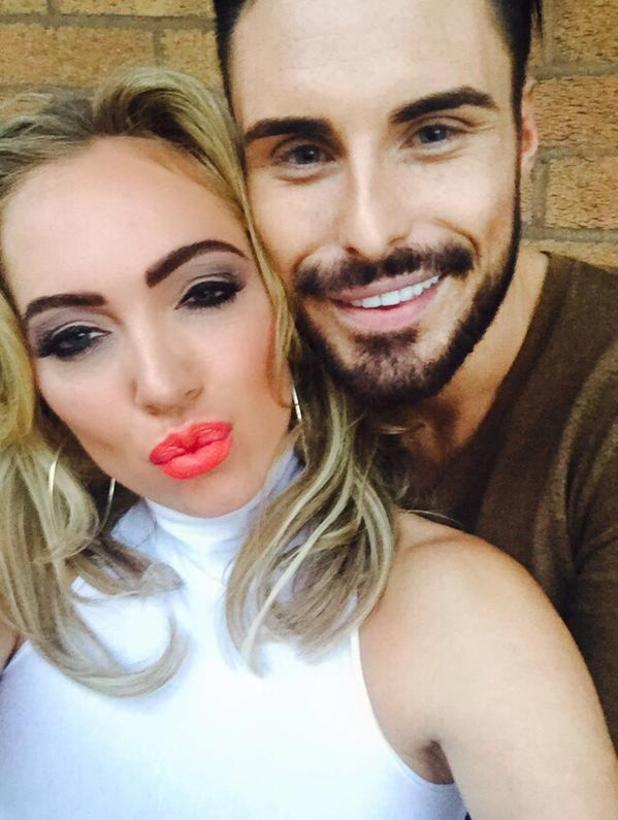 Aisleyne Horgan-Wallace with Rylan Clark.