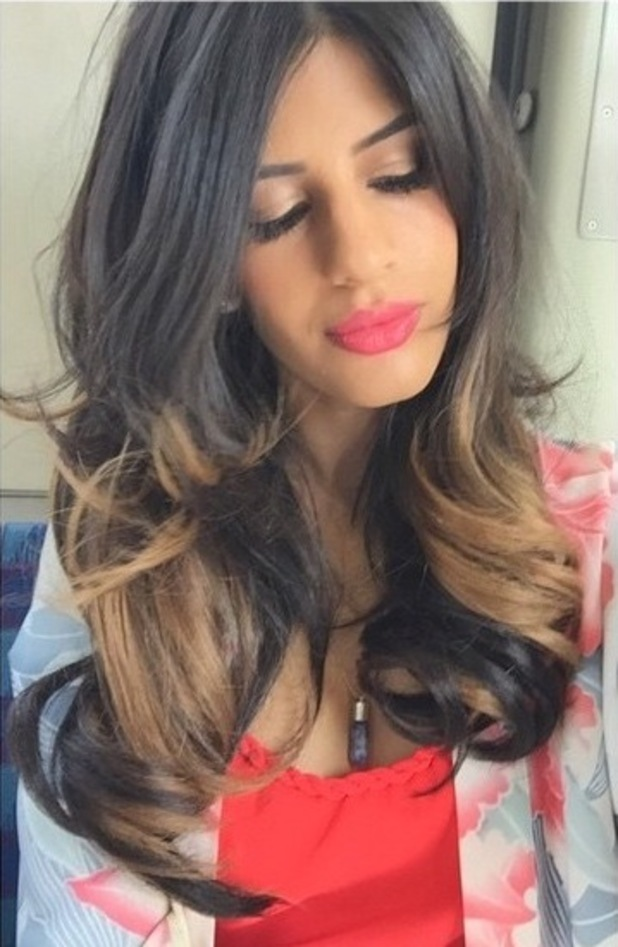 Jasmin Walia shows off new ombre hairstyle, 19th June 2015