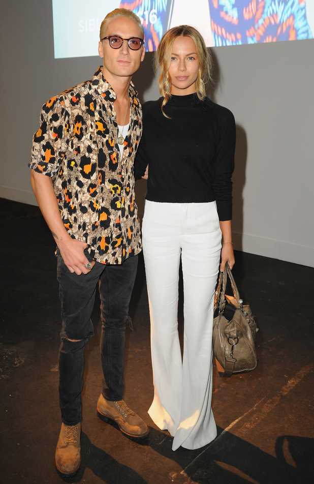 Oliver Proudlock and Emma Connolly attend the Christopher Raeburn show during The London Collections Men SS16 in London 14 June
