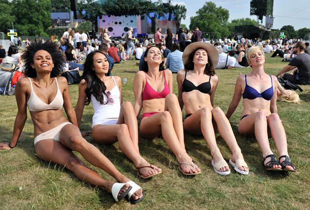 Models wear EverNew Sloggi range ahead of Kylie Minogue concert at BST