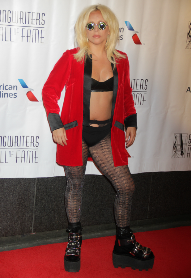 Lady Gaga Songwriters Hall of Fame 2015 46th Annual Induction and Awards Gala at The New York Marriott Marquis Hotel