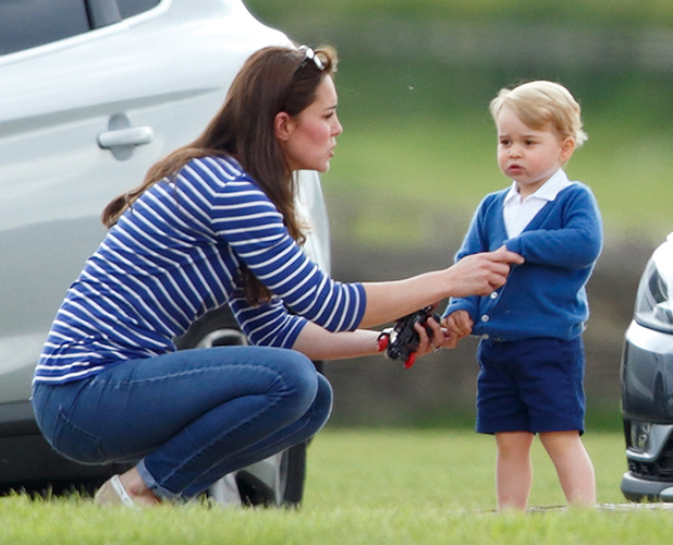 Catherine, Duchess of Cambridge and Prince George of Cambridge attend the Gigaset Charity Polo Match at the Beaufort Polo Club on June 14, 2015 in Tetbury, England. (Photo by Max Mumby/Indigo/Getty Images)