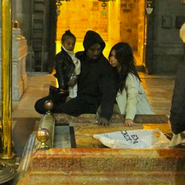 Kim Kardashian shares photos from Jerusalem, April 2015