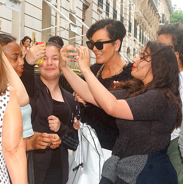 Kris Jenner spotted out shopping on Avenue Montaigne in Paris, 12 June 2015
