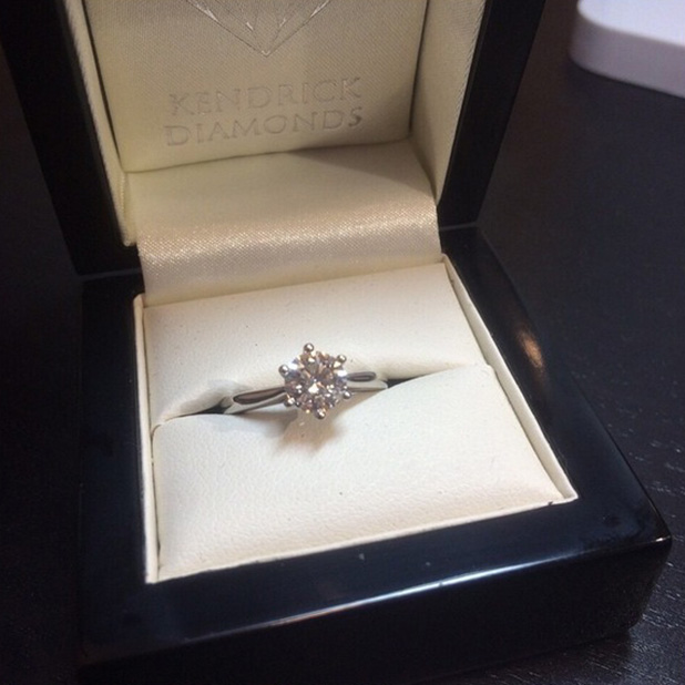 TOWIE's James Lock shows fans the engagement ring he bought for Danielle Armstrong 15 June 2015