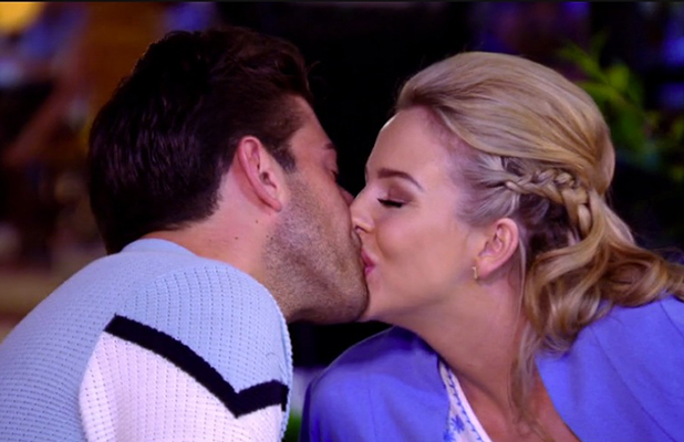 TOWIE's Lydia Bright and James Argent kiss in Marbella, 14 June 2015