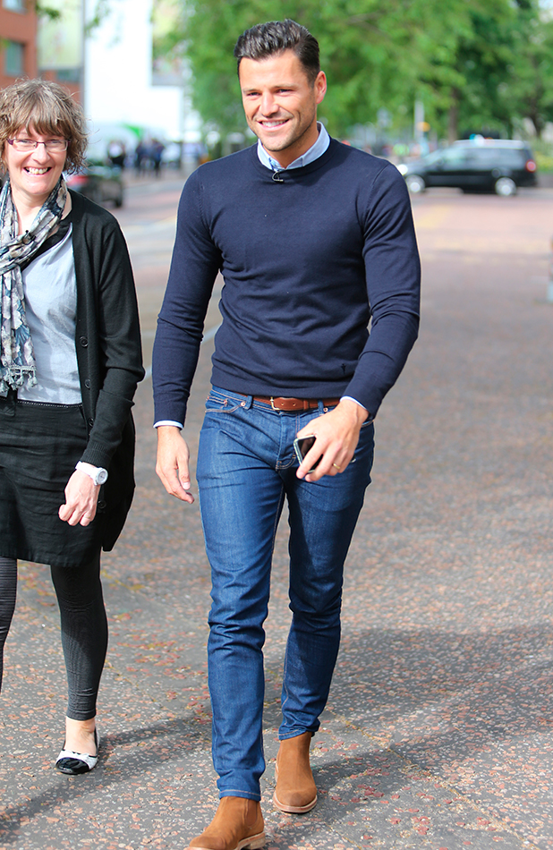 Mark Wright outside ITV studios, London 16 June 2015