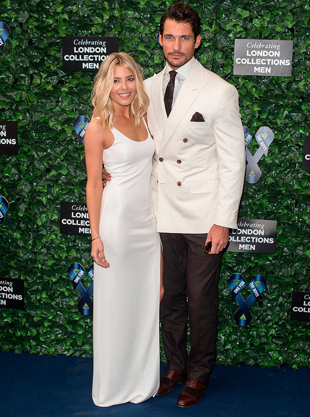 Mollie King and David Gandy, London Collections: Men S/S 2016 - One For The Boys Fashion Ball held at the Roundhouse