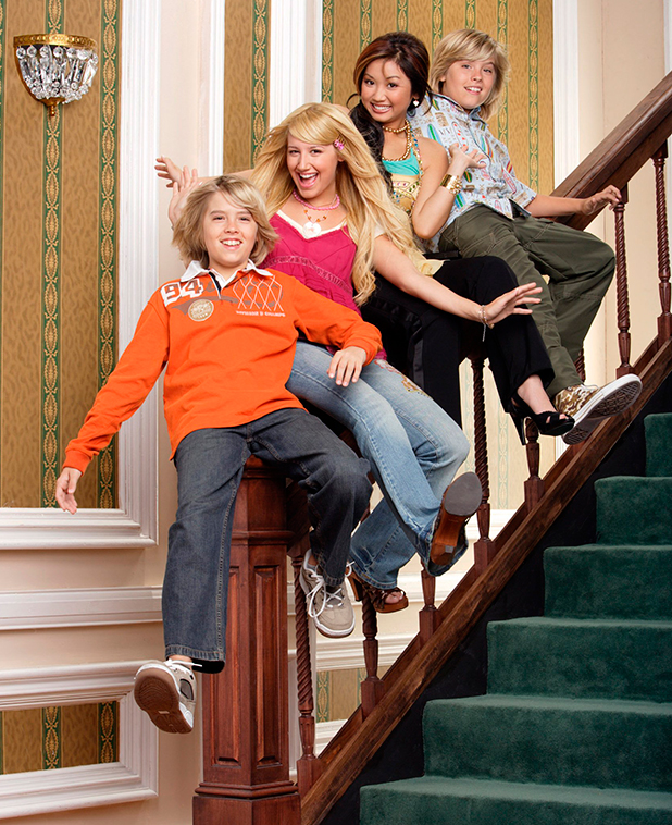 'The Suite Life of Zack and Cody' - (bottom to top): Cole Sprouse, Ashley Tisdale, Brenda Song, Dylan Sprouse, (Season 2) 2006