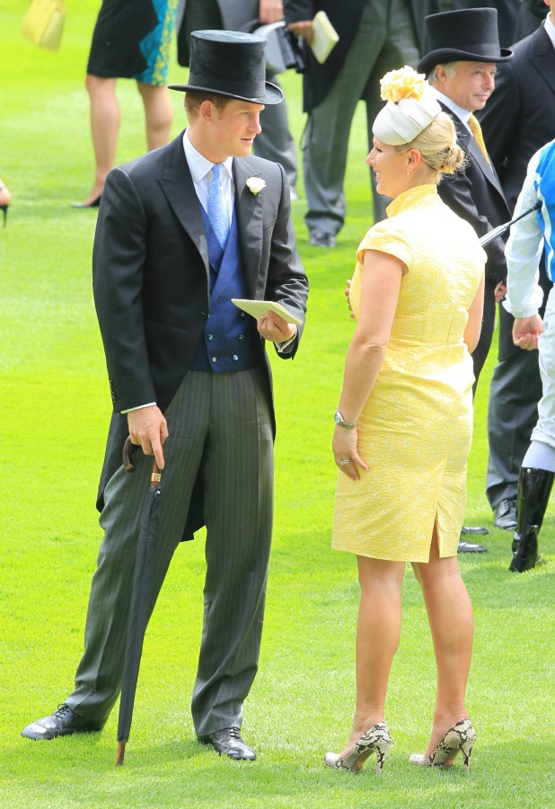 Zara Phillips watches the racing as she attends day 1 of Royal Ascot at Ascot Racecourse on June 16, 2015 in Ascot, England.