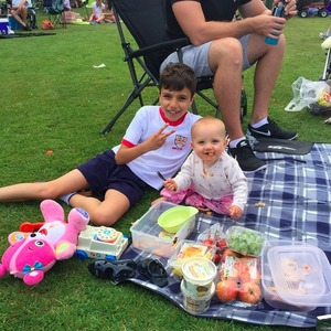 Katie Price enjoys sports day with kids, 27 June 2015