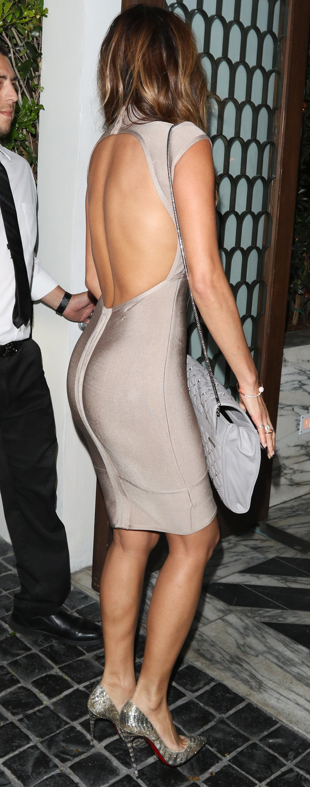 Nicole Scherzinger wears backless gown on night out in L.A 24th June 2015