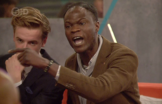 Brian Belo clashes with Marc O'Neill on 'Big Brother'. Broadcast on Channel 5 HD. 20 June 2015.