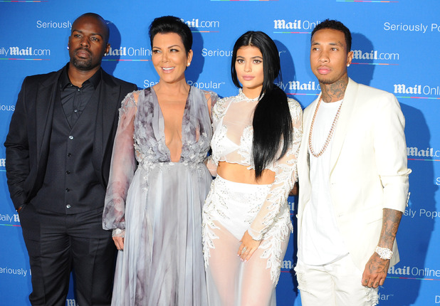 Kylie Jenner, Kris Jenner, Corey Gamble and Tyga at the dailymail.co.uk Seriously Popular Yacht Party in Cannes, 25th June 2015