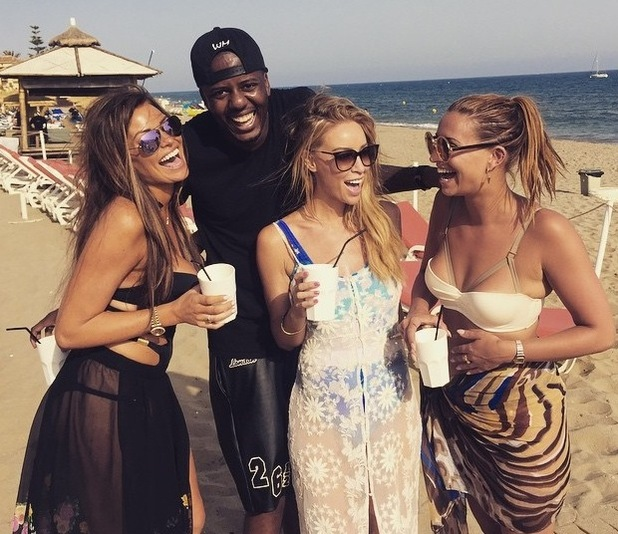 TOWIE's Jessica Wright filming with co-stars in Marbella - June 2015.