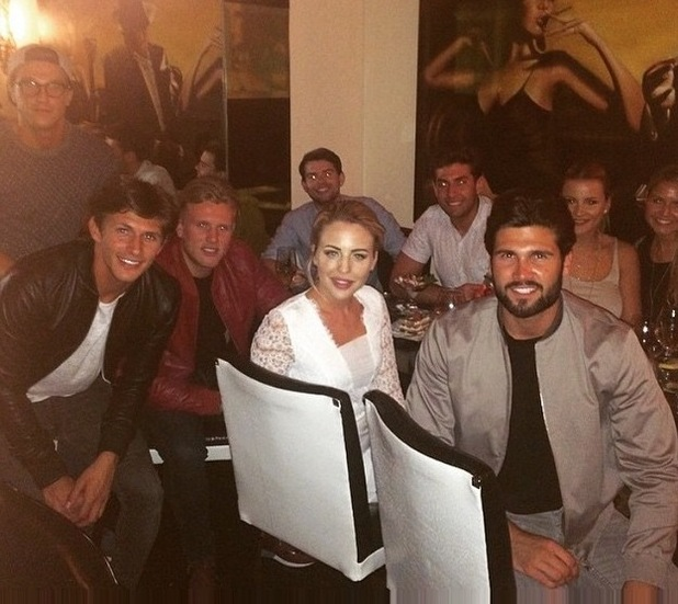 TOWIE group head to Sheesh restaurant in Chigwell for dinner - 23 June 2015.