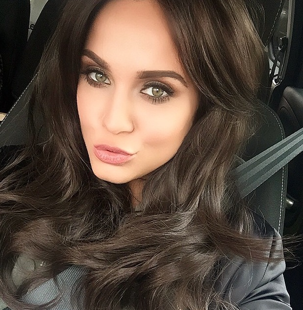 Vicky Pattison shows off VIP Hair extensions, 12 June 2015