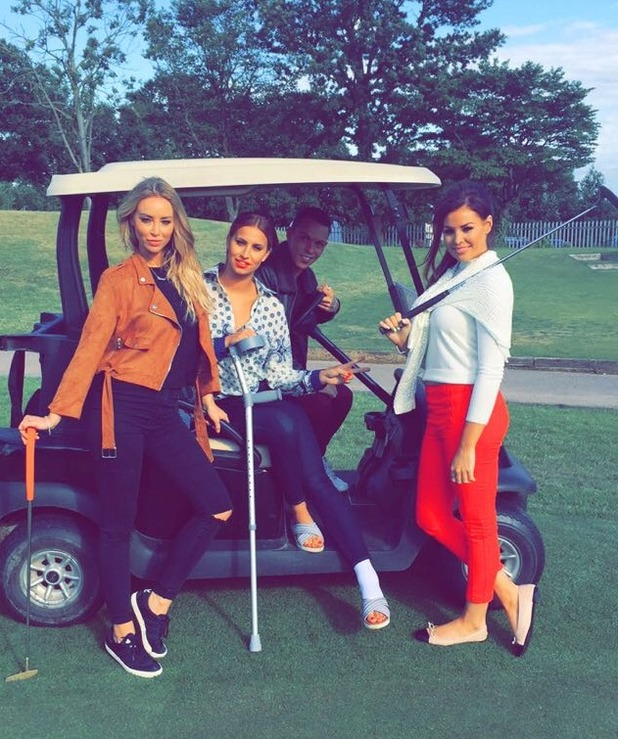 TOWIE's Jessica Wright, Bobby Norris, Ferne McCann enjoy spot of golf - 22 June 2015.