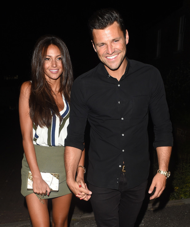 Mark Wright and Michelle Keegan spotted leaving Studio 15 nightclub - 12 June 2015.